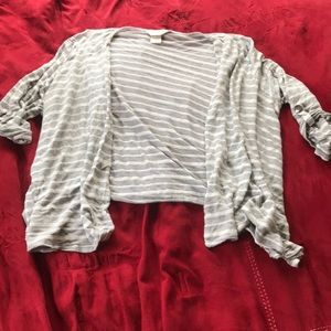 CJ Banks Striped Draped Cardigan Size 1X